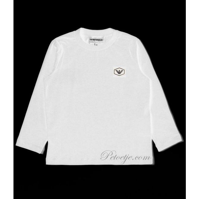 EMPORIO ARMANI Jongens Witte Logo T-Shirt