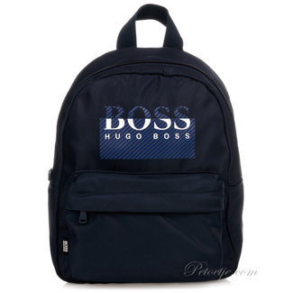 HUGO BOSS Kidswear  Blauwe Logo Rugzak (30cm)