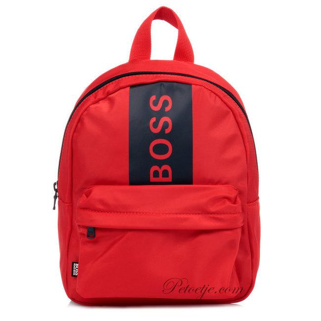 HUGO BOSS Kidswear  Red Logo Mini Backpack (24cm)