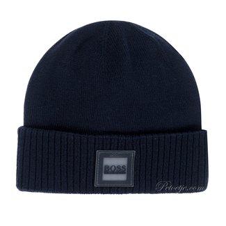 HUGO BOSS Kidswear  Blue Cotton Logo Hat