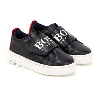 HUGO BOSS Kidswear  Blauwe & Rode Leren Schoenen