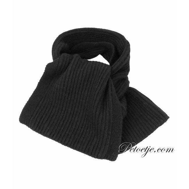 JAMIKS Black Knitted Wool Scarf