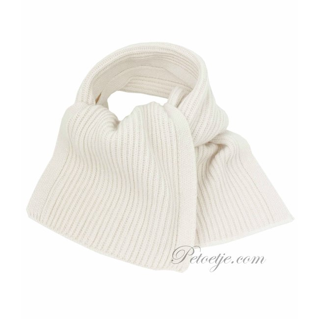 JAMIKS Ivory Knitted Wool Scarf