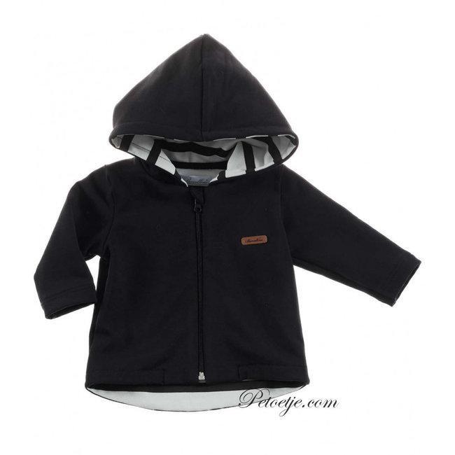 BARCELLINO Baby Boys Black Zip Up Top