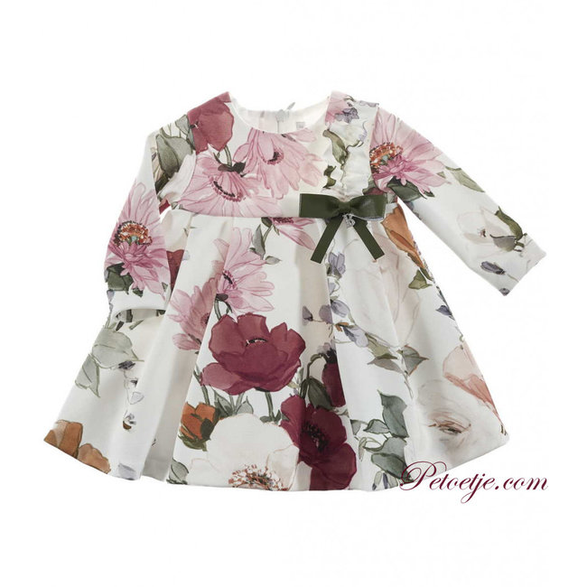 BARCELLINO Baby Girls White Floral Dress