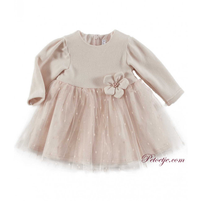BARCELLINO Baby Girls Pink Tulle Dress