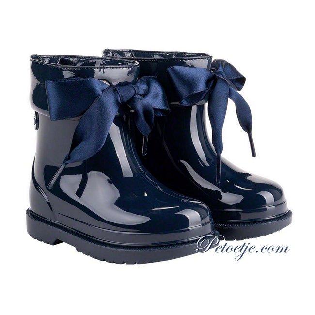 IGOR  Bimbi Lazo Navy Blue Rainboots With Ribbon Tie