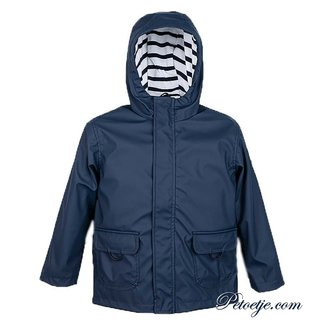 IGOR  Euri Navy Blue Hooded Rain Coat