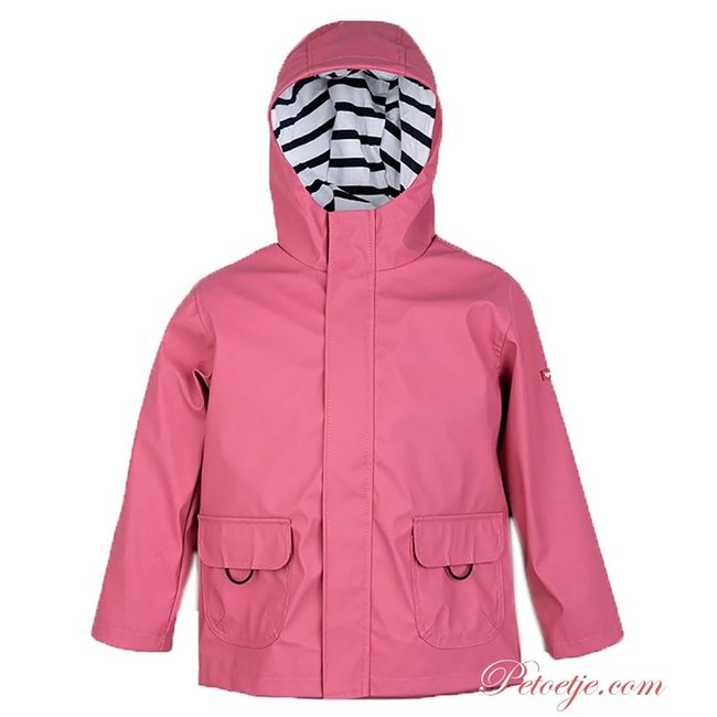 IGOR  Euri Fuchsia Hooded Rain Coat - Frambuesa