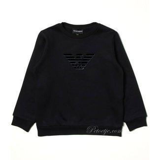 EMPORIO ARMANI Jongens Blauwe Logo Sweatshirt