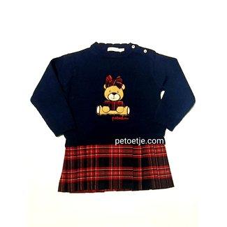 PATACHOU Baby Meisjes Blauwe Tricot Teddy Jurk