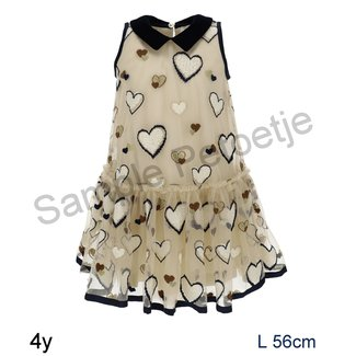 MONNALISA Tulle dress with hearts