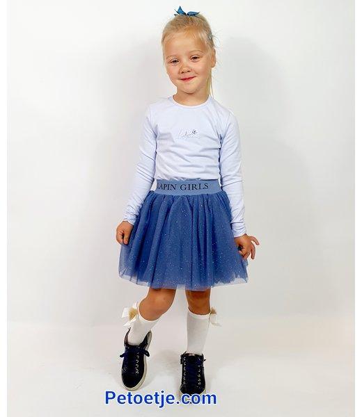 Blue Glitter Tulle Skirt