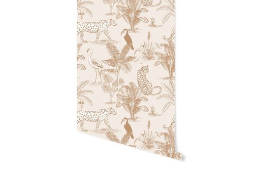 Behang Jungle Beige