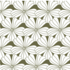 Swedish Linens Hoeslaken FLOWERS Olive green