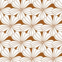 Hoeslaken FLOWERS Cinnamon brown