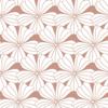 Swedish Linens Hoeslaken FLOWERS Terracotta pink