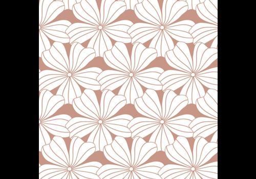 Hoeslaken FLOWERS Terracotta pink