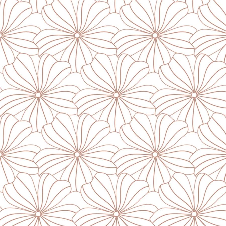Hoeslaken FLOWERS  White-1
