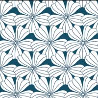 Hoeslaken FLOWERS  Moroccan blue
