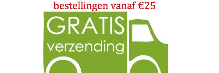 bij bestelling vanaf €25 geen verzendkosten!
