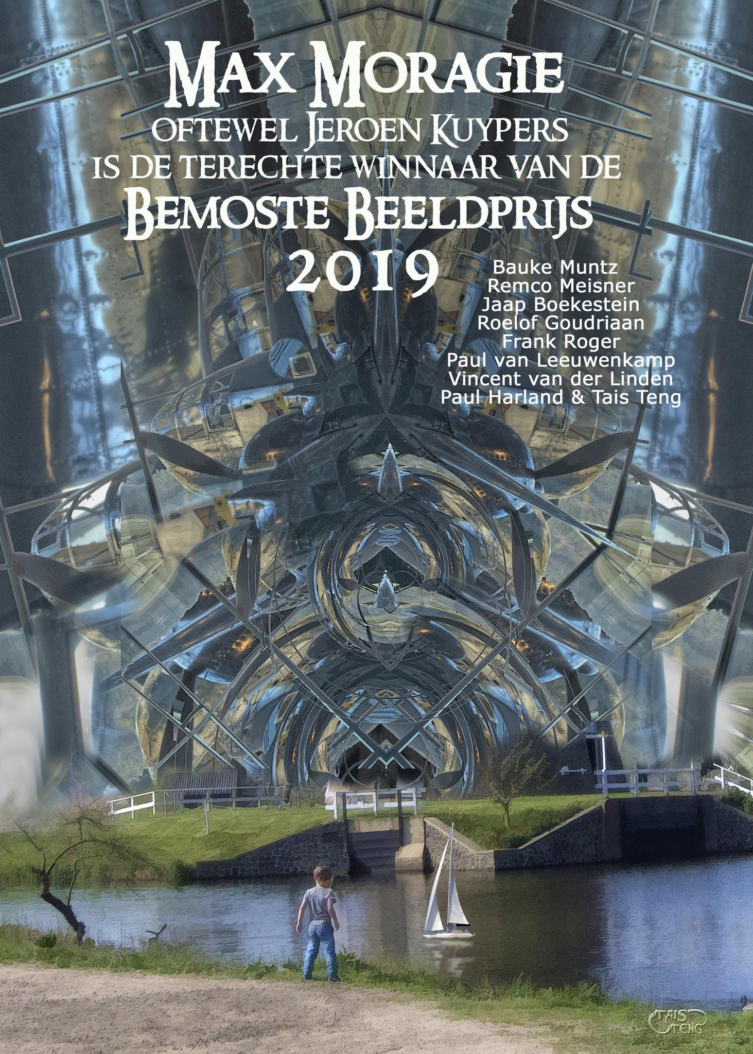 De Bemoste Beeld-prijs oorkonde van Max Moragie