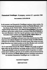 Fantastische Vertellingen, nr. 22, jrg 9, september 1988