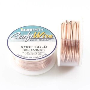 BeadSmith Craft Wire 'Rose Gold' 18-28 gauge