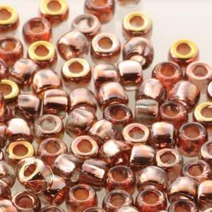 Matubo kralen 7/0 Crystal Capri Gold (tube 7,5 gr)