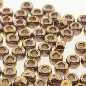 Matubo kralen 7/0 Crystal Gold (tube 7,5 gr)