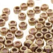 Matubo kralen 7/0 Chalk Senegal Brown Violet (tube 7,5 gr)