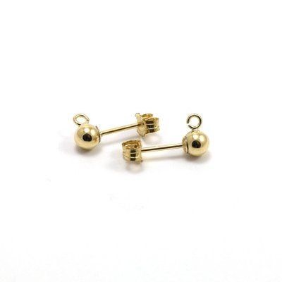 Goldfilled 14 kt Oorstekers 4x13 mm