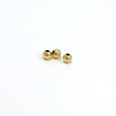 Goldfilled 14kt ronde kraal 4 mm 'smooth'