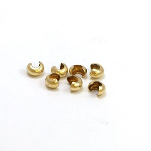 Goldfilled 14 kt knijpkraal verberger 4 mm