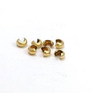 Goldfilled 14 kt knijpkraal verberger 5x5 mm