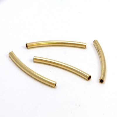 Goldfilled 14kt kralen -buisje 24x2 mm