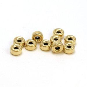 Goldfilled 14kt rondell kraal 6x3 mm rijggat 2,5 mm