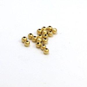Goldfilled 14 kt 3 mm kraal 'smooth' voordeel verpakking (100 st)