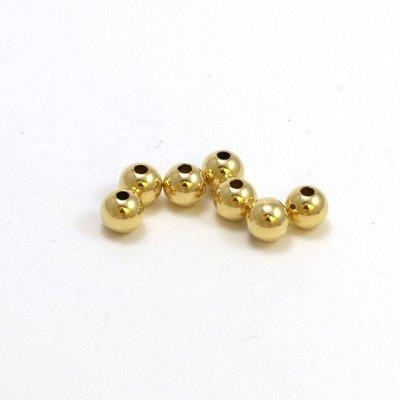 Goldfilled 14 kt 5 mm kraal 'smooth'