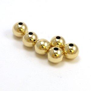 Goldfilled 14 kt 8 mm kraal 'smooth'
