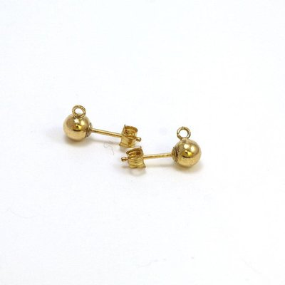 Goldfilled 14 kt oorstekers 5x14 mm