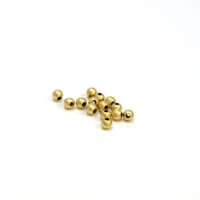 Goldfilled 14 kt 3mm ronde kraal 'smooth' SATIN