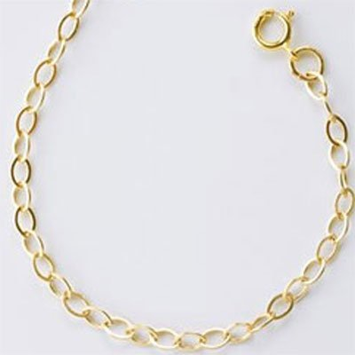 Goldfilled 14 kt ketting 'ovaal' 2,7 mm(45 cm)