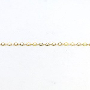 Goldfilled 14 kt jasseron 'figure eight' / per 10 cm