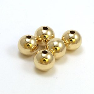Goldfilled 14kt kralen - rond 10 mm 'smooth'