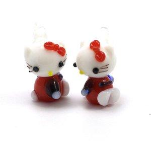 Hello Kitty Rood 22x13 mm (per stuk)