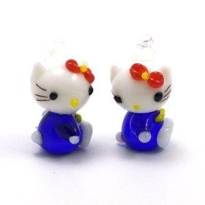 Hello Kitty Blauw 22x13 mm (per stuk)