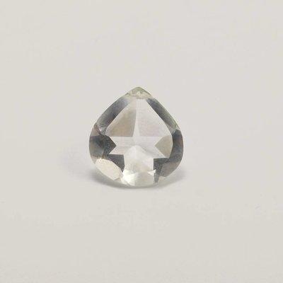Bergkristal briolette ca. 15x15 mm (per stuk)