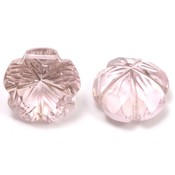 Roze Kwarts bloem geslepen 13x13 mm (per stuk)
