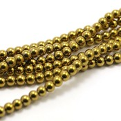 Hematiet kralen gold plated (4mm)